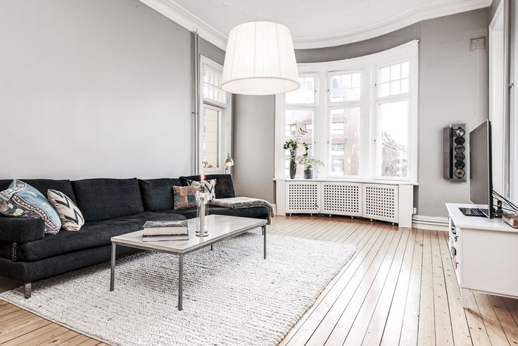 Living room at Berzeliigatan, Gothenburg, Sweden.