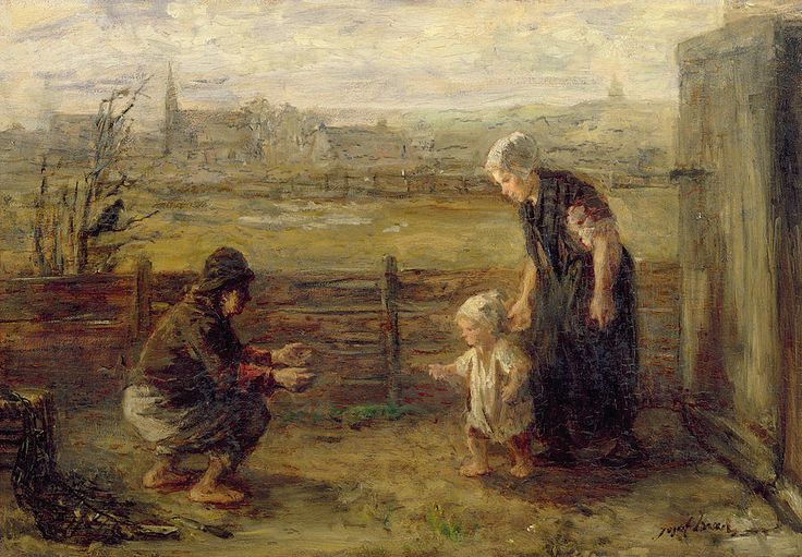 The First Step by Dutch Painter Josef Israels 1824 - 1911 http://www.haoss.org/t8590-jozef-israels