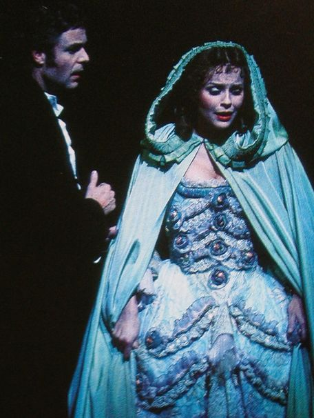 the famous turquoise hooded cloak - beautiful costumes!