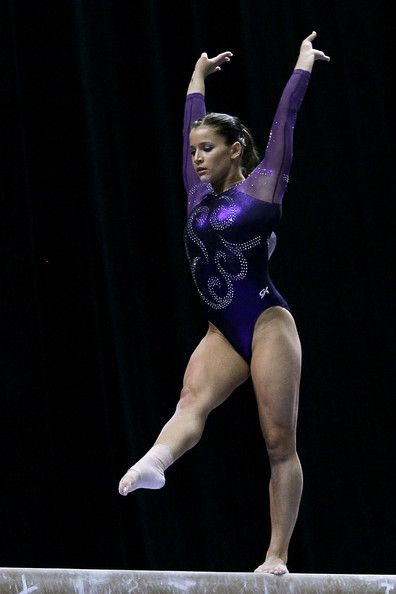 Alicia Sacramone Alicia Sacramone competes on the beam during the Senior Women's competition on day two of the 2010 Visa Gymnastics Champion...
