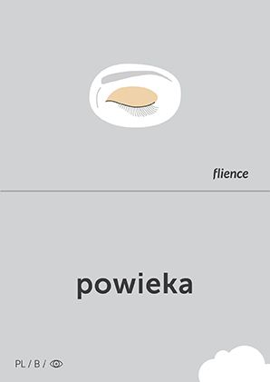 Powieka #CardFly #flience #human #polish #education #flashcard #language