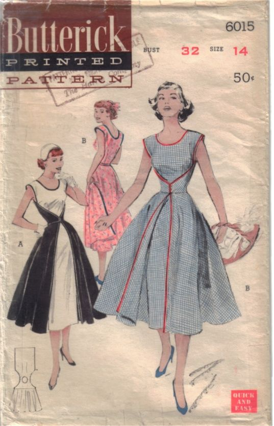 Vintage wrap-around dress pattern - tutorials and pattern information.