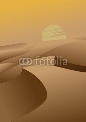 Arabic Desert Illustration
