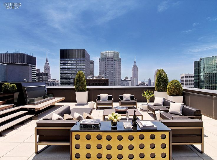 rooftop furniture. A History Of Luxury: HOK Renovates New York Palace Rooftop Furniture