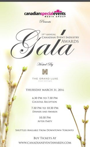 Canadian Event Industry Awards -2016-Gala-Invitation
