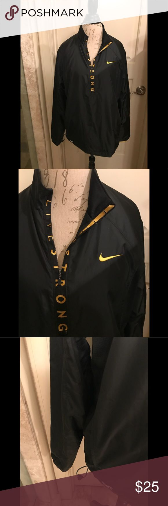 Nike Livestrong Pullover Windbreaker Nike Livestrong drifit pullover  zip up the front windbreaker. Excellent condition Nike Livestrong Jackets & Coats Windbreakers