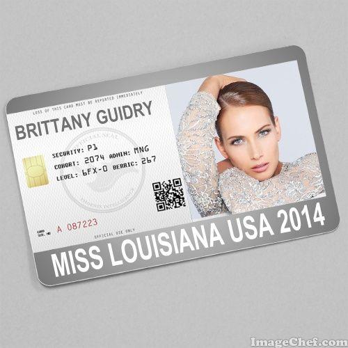 Brittany Guidry Miss Louisiana USA 2014 card