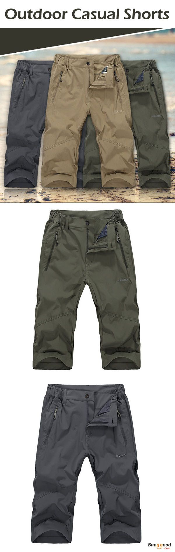 US$32.79+Free shipping. Men's Shorts, Outdoor Shorts, Casual Shorts, Material: 85% Cotton Fiber + 15% Spandex. Color: Khaki, Army Green, Gray. Function: Windproof, Breathable, Water-repellent, Quick-drying, Sun-proof, Scratch resistant.