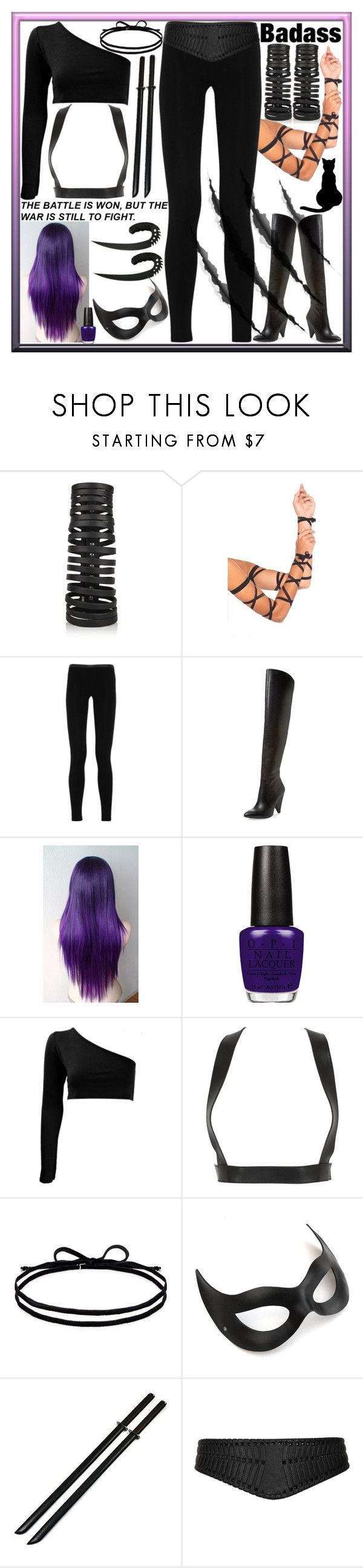 """""""The Last Battle"""" by dev-lynn ❤ liked on Polyvore featuring Rick Owens, Leg Avenue, Emilio Pucci, Vince Camuto, OPI, Zana Bayne, Joomi Lim and Topshop"""