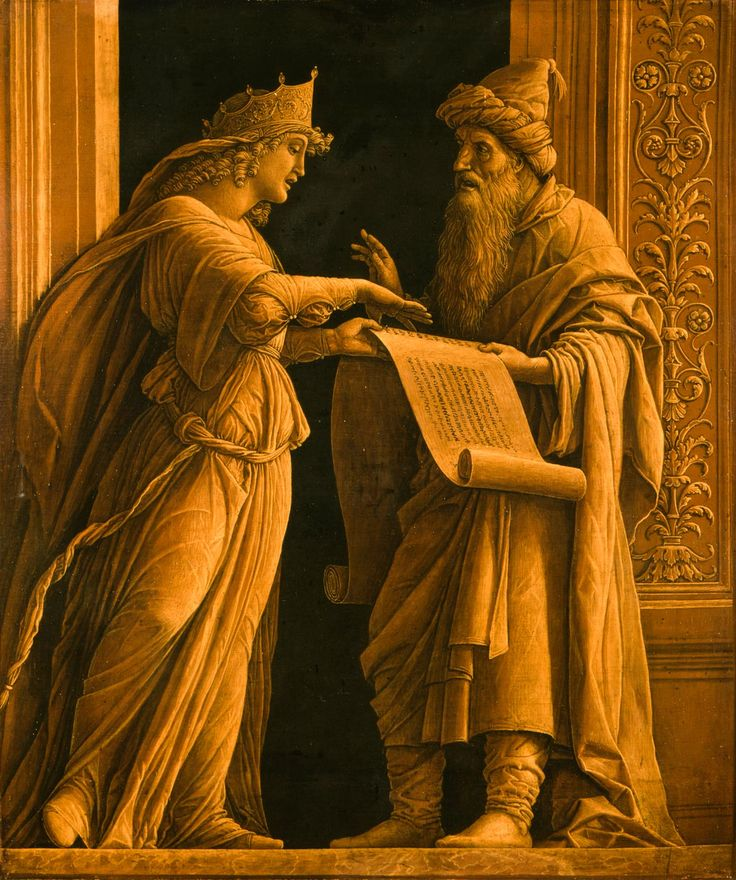 The Priest Helqia and the Prophetess...Andrea Mantegna