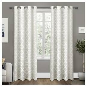 Set of 2 Cartago Insulated Woven Blackout Grommet Top Window Curtain Panels Exclusive Home : Target