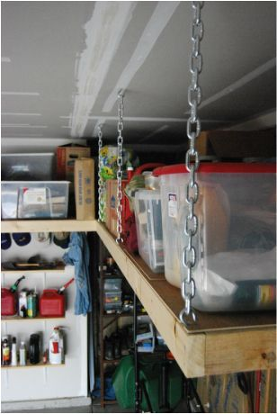 Suspended overhead garage shelves http://overheadshelves.weebly.com/index.html