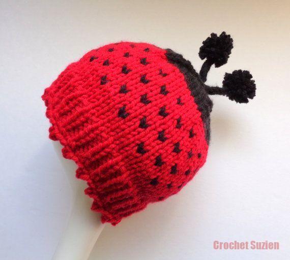 Inspiration. Kein Muster. Lady Bug Hat Babymütze Newborn Hat Babyparty von GieseD … Häkeln   – Suzi Crochet New