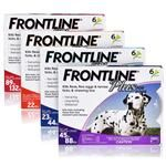 https://www.petcarerx.com/frontline-plus-for-dogs/10884  Frontline Plus is a fast-acting and effective flea and tick medication, killing all existing fleas on your dog in 12 hours and lasting as long as one month.