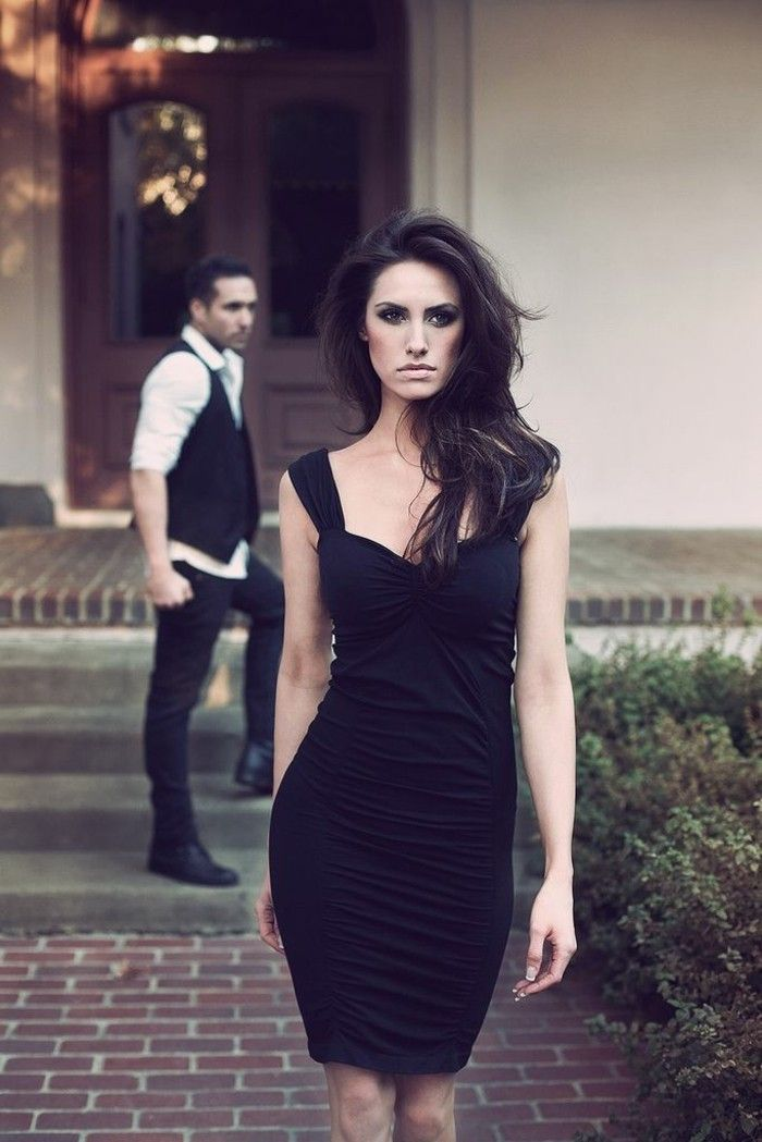 Robe noire dentelle robe longue grande taille belle tenue