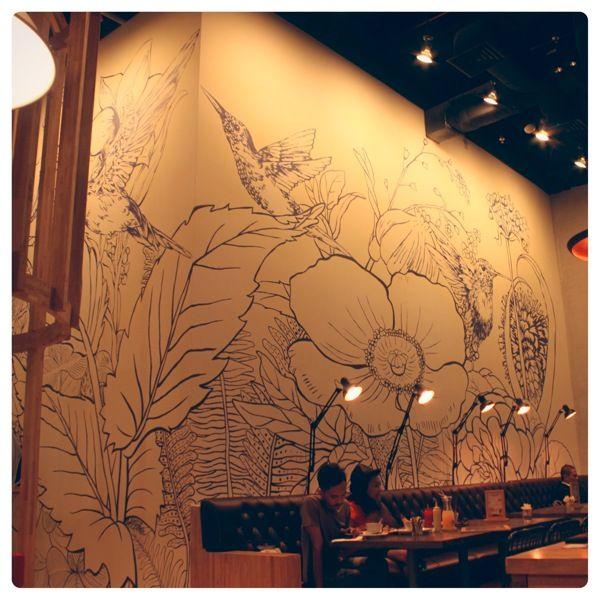 Hummingbird Eatery Jakarta Mural