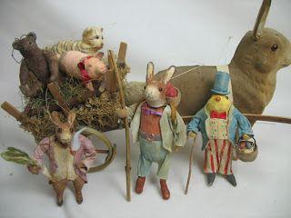 Gesponnen Katoen Ornament Co .: Duitse stijl Spun Cotton Rabbit