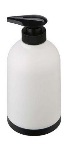 17,99 leroy http://www.leroymerlin.com.br/porta-sabonete-liquido-branco-e-preto-em-plastico-joy-importado_89495042?origin=57d872b4550d81072d440cb3