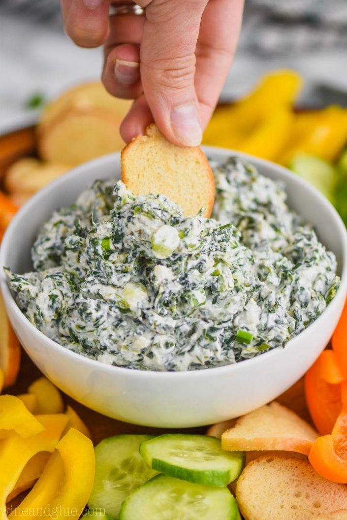 This Spinach Dip Recipe Is Super Easy To Make And Is So Good This Cold Spinach Dip Recipe Made With Sour Cream Is Spinach Dip Recipe Spinach Dip Dip Recipes