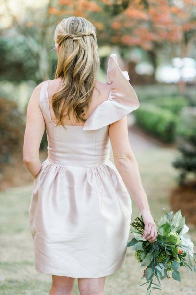 Bridesmaid hair: http://www.stylemepretty.com/little-black-book-blog/2015/02/25/dazzling-hot-pink-wedding-inspiration-a-pop-of-confetti/ | Photography: Caroline Lima - http://www.carolinelima.com/
