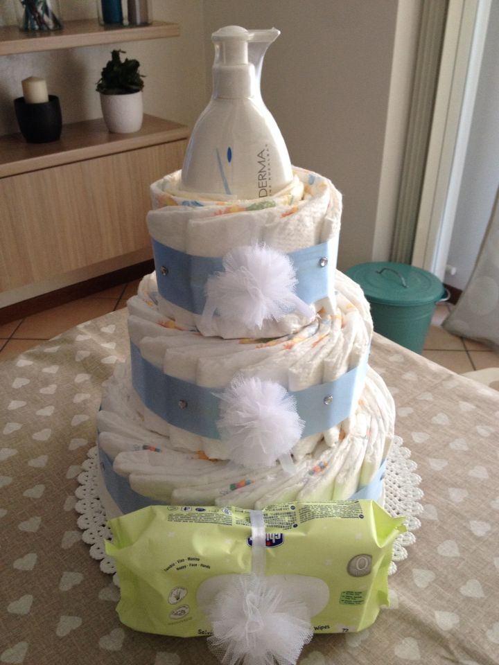 #diaperscake #baycake #regalonascita #pannolini #pillo #chicco #aderma #newborn