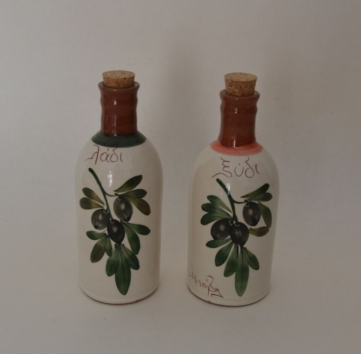 Ceramic Handmade Olive-Vinegar Set 'OLIVE' Limberidis Ceramics