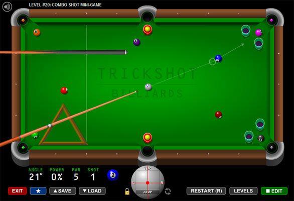 Trick Shot Billiards Flash Pool Game - Play Free Tabletop Games Online