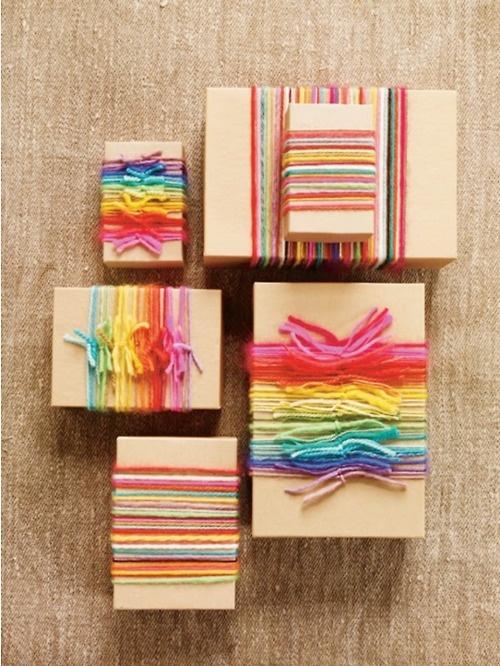Empaquetar con cajas y lanas