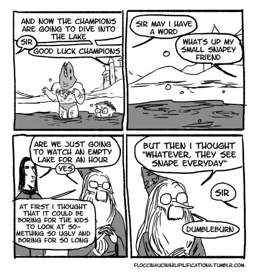 Thank goodness this version of Dumbledore has plenty of sass for Snape to make up for it. | These Hilarious Harry Potter Comics Show How Irresponsible Dumbledore Was