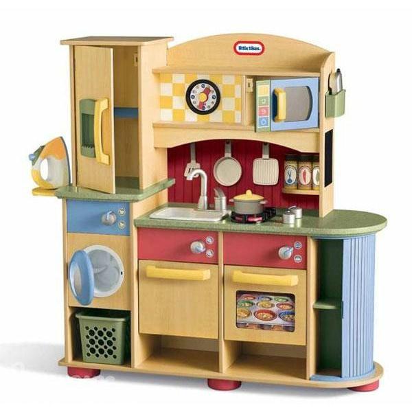 Деревянные игрушечные кухни. Ну, как, игрушечные. Почти, как настоящие. Обзор - игрушечная кухня