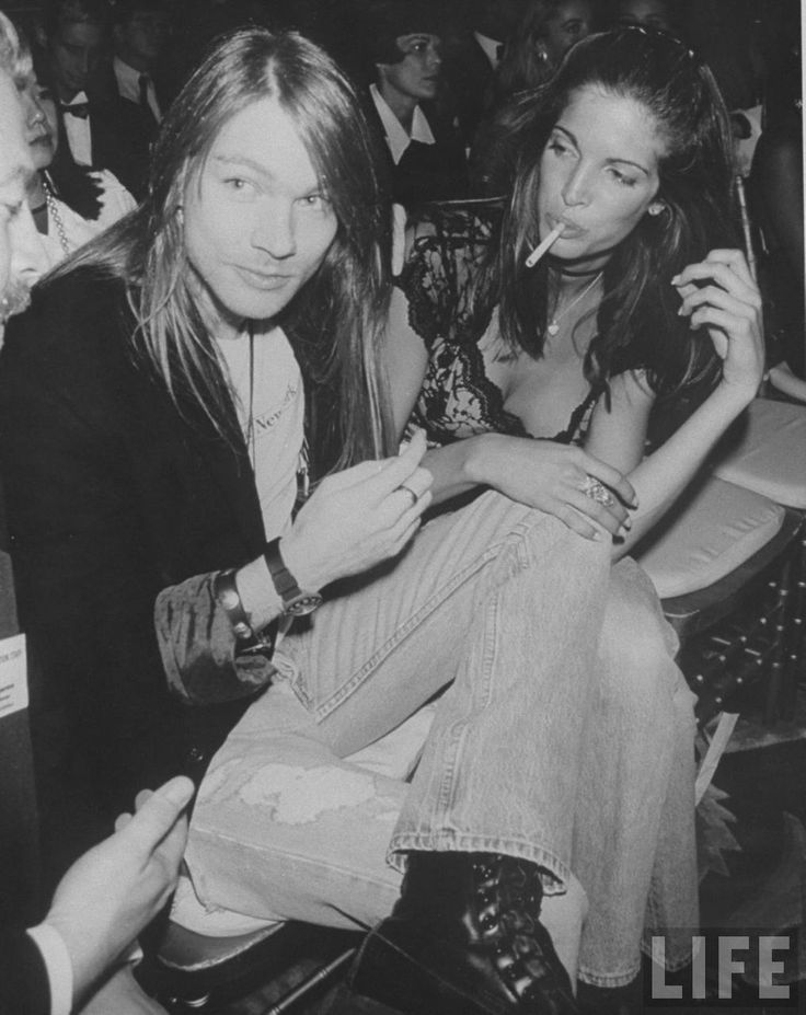 Axl Rose & Stephanie Seymor