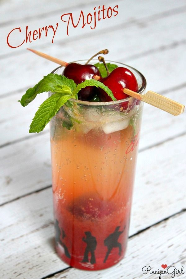 Fresh Cherry Mojitos recipe - RecipeGirl.com