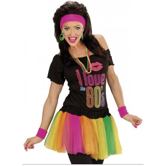 Neon kleding bij warenhuis Trendmax, Carnaval tutu neon,60s,meerkleuren,meerkleurig,multicolor,neon,sixties,tutu,tutu`s,tutus