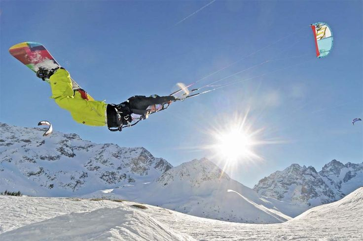 Snow Kiting in Serre Chevalier