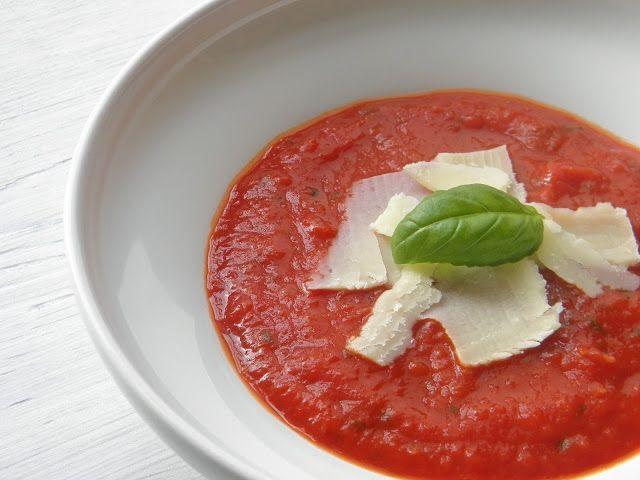 Rajčatová polévka  http://www.veseleboruvky.cz/2012/05/rajska-polevka.html