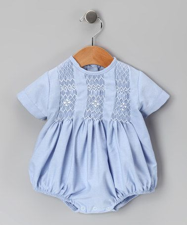 Take a look at this Blue Tom Smocked Bubble Bodysuit - Infant by Hug Me First on #zulily today!