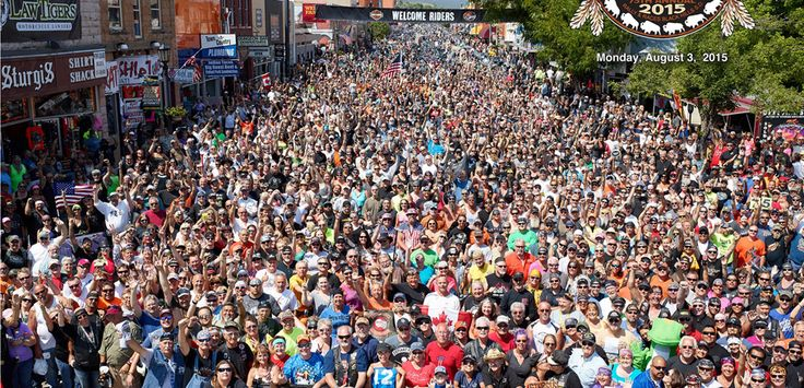 Just a small gathering in Sturgis 2015