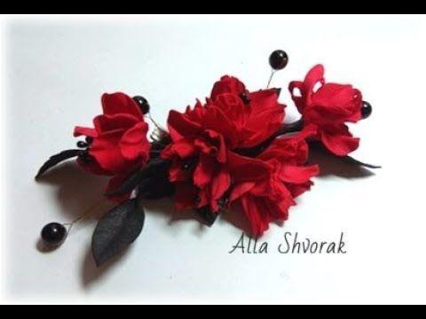 МК Легкий способ создания маленьких цветочков из фоамирана и сборка в украшение. - YouTube