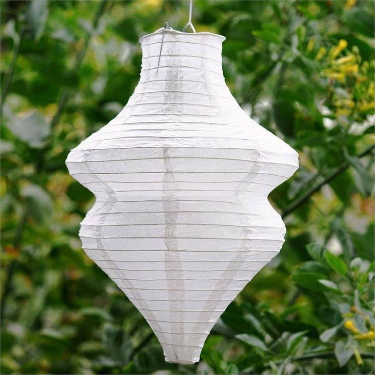 Beehive Hanging Chinese Paper Lanterns - White- 3 PCS