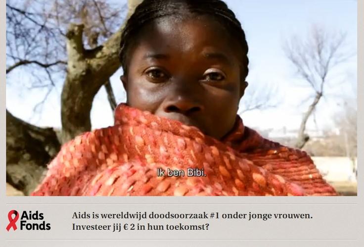 Ik ben Bibi. Ik ben moeder van twee kinderen. Ik kom uit Congo. http://aidsfondsonderzoek.nl/ #aidsfonds