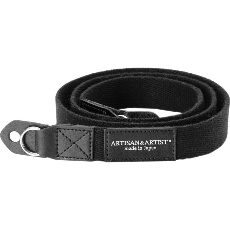 Artisan&Artist Acrylic Camera Strap | Black
