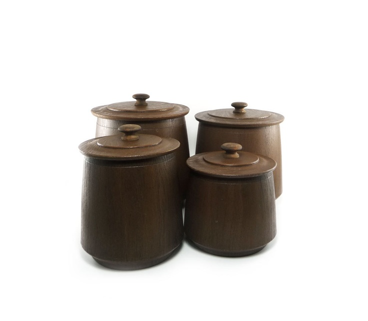Chocolate Brown Canister Set
