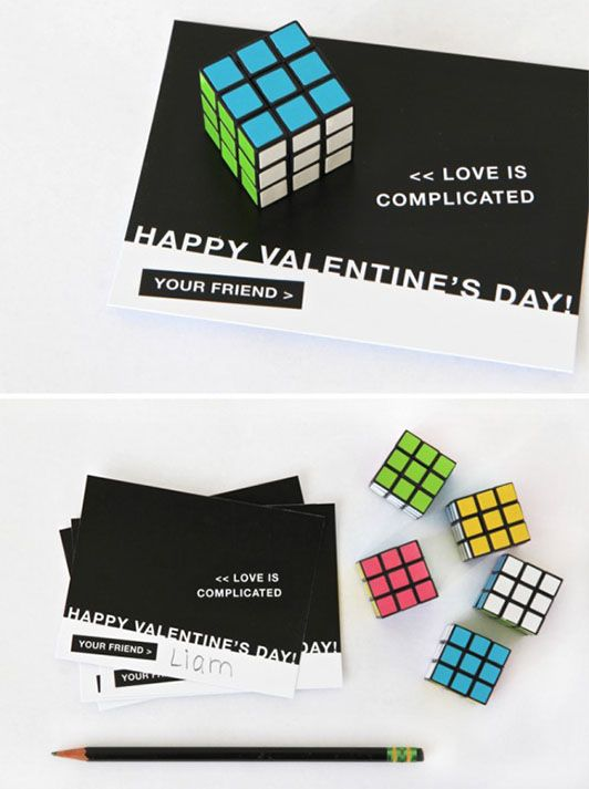 Flirty-Nerdy #Valentines for the Geek in Your Life (http://blog.hgtv.com/design/2014/02/05/flirty-nerdy-valentines-for-the-geek-in-your-life/?soc=pinterest)Boys Valentine, Complicated Gifts, Cubes Valentine, Crafty, Gift Ideas, Complicated Valentine, Valentine Ideas, Flirty Nerdy Valentine, Flirty Nerdyness Valentine
