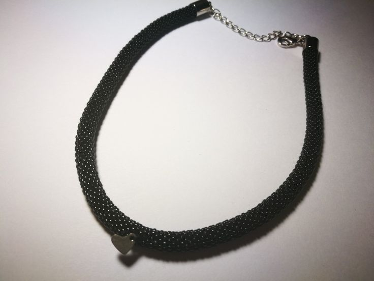 Choker - black  toho 15o by Manufaktura Leo
