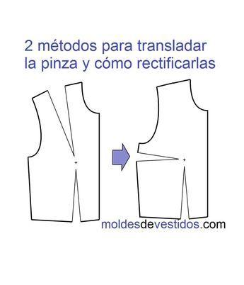2 métodos para translado de las pinzas del talle delantero y cómo rectif...