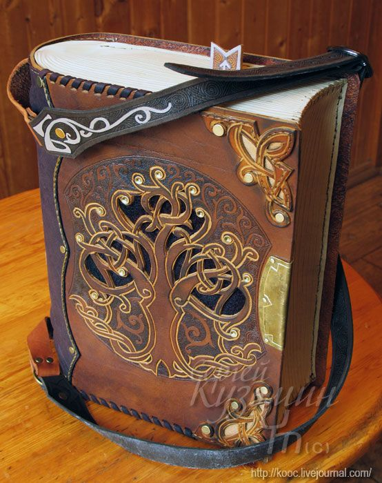 Astounding steampunk leatherwork bags and books