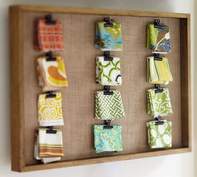 This is a good way to display the fabric types
