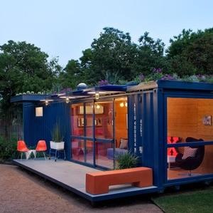 The Architect is In - Container as Guest House by Poteet Architects