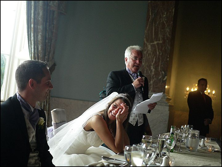Giving funny wedding speeches is one way of making ones wedding speech very memorable  Funny