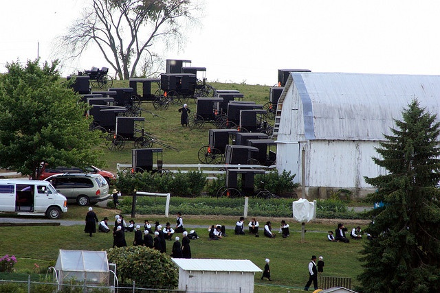 An Amish wedding...an all day affair...